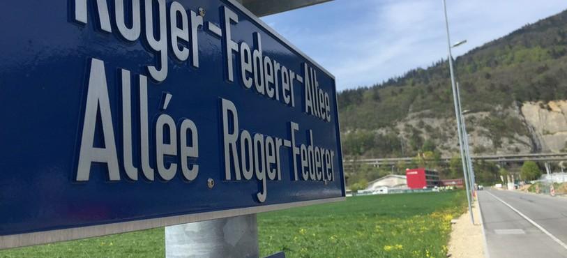L'allée Roger Federer relie le centre de Swiss Tennis à la Tissot Arena.