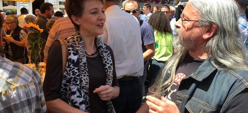 La conseillère fédérale, Simonetta Sommaruga, a rencontré les Imériens ce jeudi.