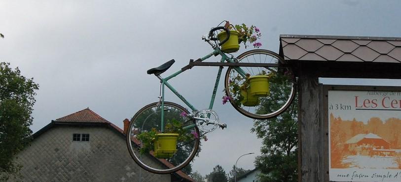 Décoration pour le Tour de France (Les Verrières)