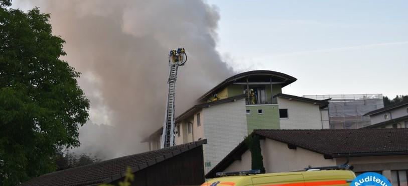 Le feu a pris dans un immeuble de Porrentruy jeudi matin.