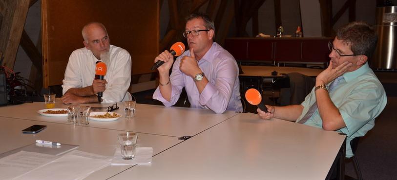 De gauche à droite, Bruno Moser, Patrick Widmer et Erich Fehr