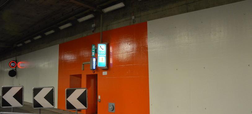 Signalisation dans les tunnels sous Neuchâtel