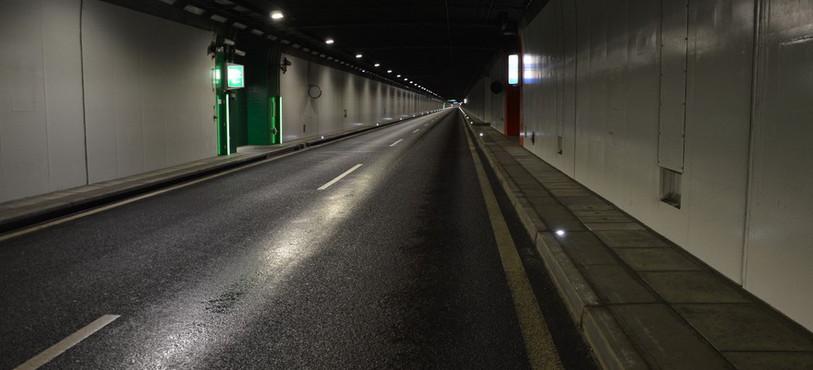 Vue générale du tunnel sous Neuchâtel