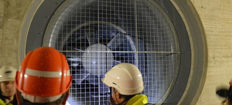 """Ventilateur """"géant"""" des tunnels sous Neuchâtel"""