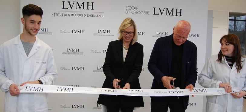Inauguration de l'Ecole d'horlogerie LVMH