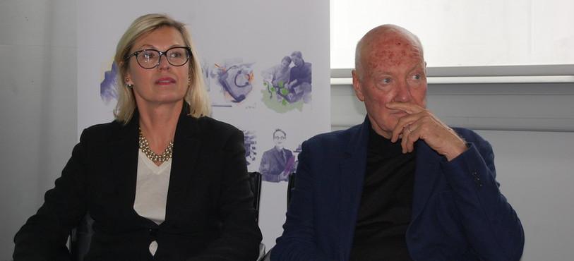 Chantal Gaemperle, directrice des ressources humaines et synergies de LVMH et Jean-Claude Biver, président de la division montres du groupe.