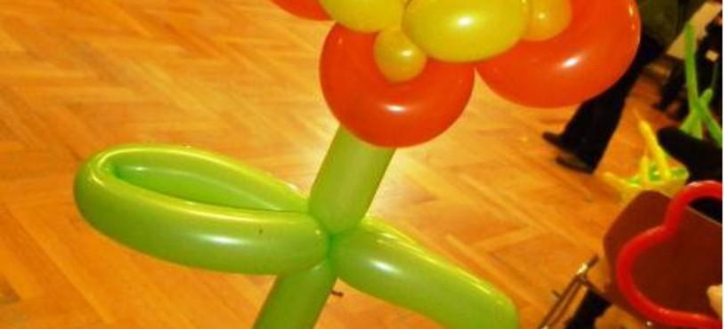 Sculpture en ballons réalisée par Zebrano