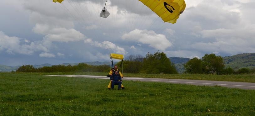 avion, parachute, Pierre Kohler