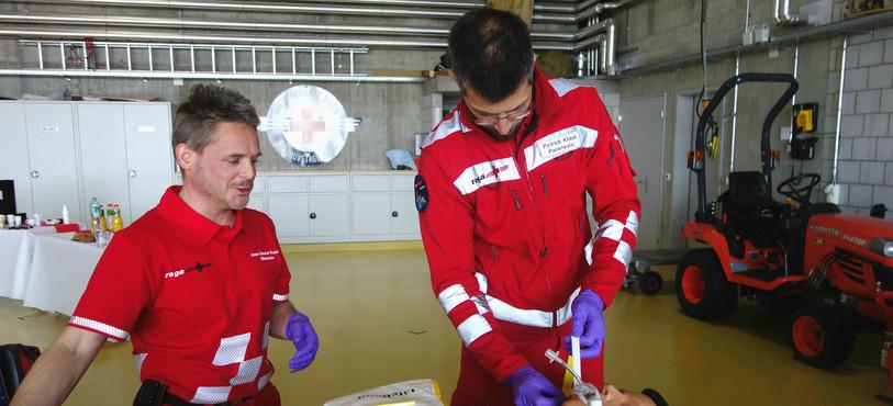 Jean-Daniel Rouvé, médecin et Patrick Klaus, sauveteur professionnel