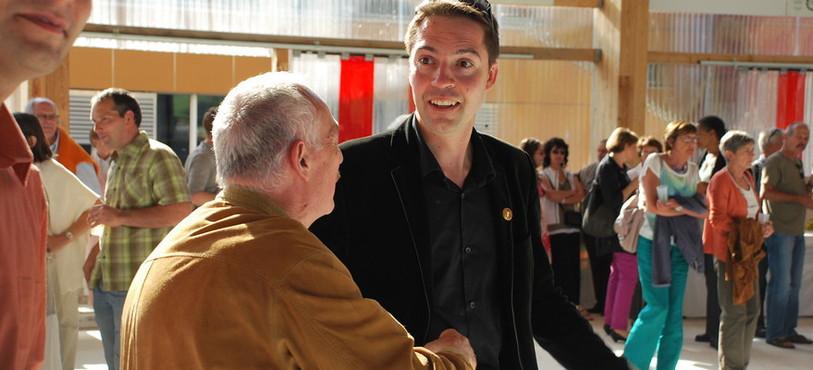 Cédric Dupraz lors de son arrivée au Communal