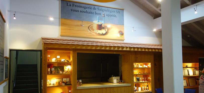 Accueil à la fromagerie de Saignelégier