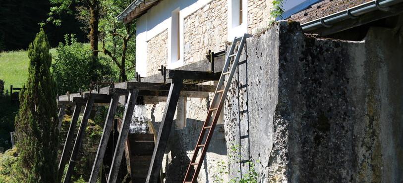 La roue du moulin de Soubey
