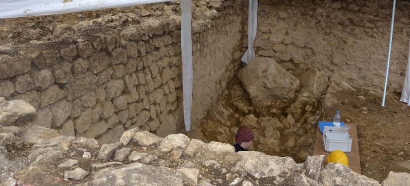 Vue de la cave romaine