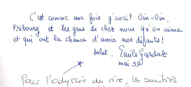 Signature Emile Gardaz et Claude Blanc