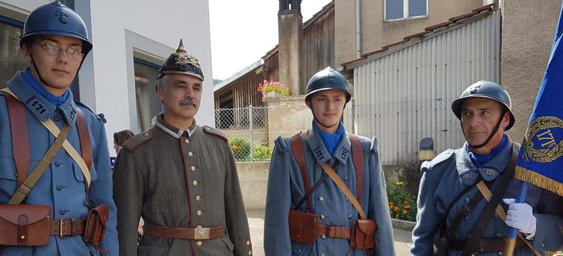 Soldats français et allemand de la 1ère GM