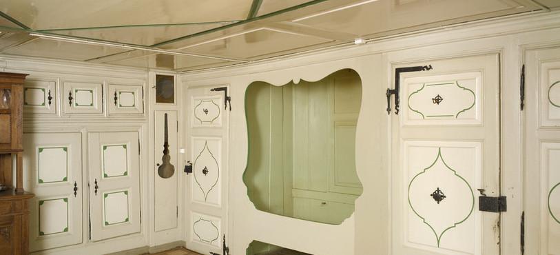Intérieur de la maison paysanne St-Brais. Crédit : Office de la culture