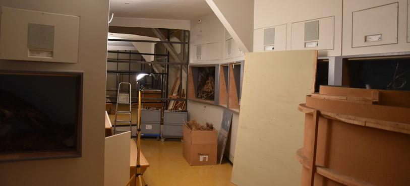 La galerie suisse est pratiquement totalement démontée au premier étage du musée.