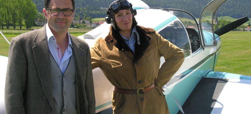 Deirdre et le pilote Paul