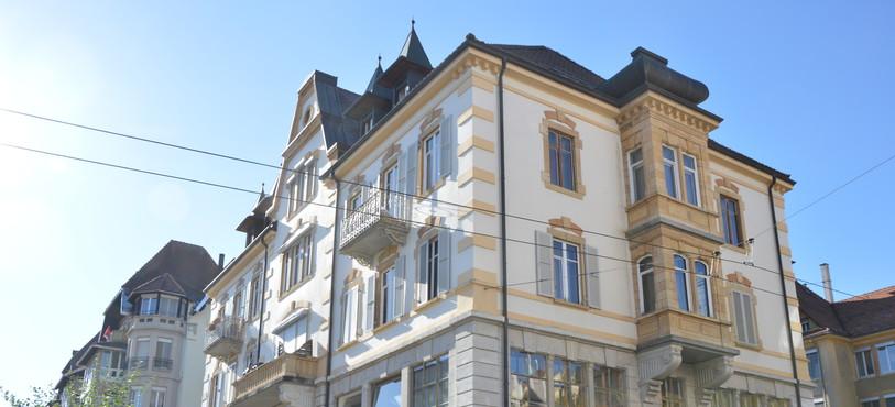 Le bâtiment qui abrite Les Ondines, rue de la Jardinière 109 à La Chaux-de-Fonds