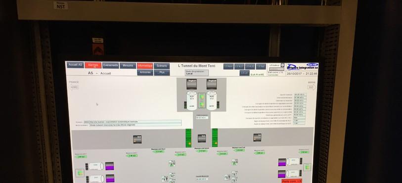 Le système de commande de la ventilation dans le tunnel du Mont-Terri