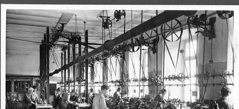 L' atelier de décolletage en 1920