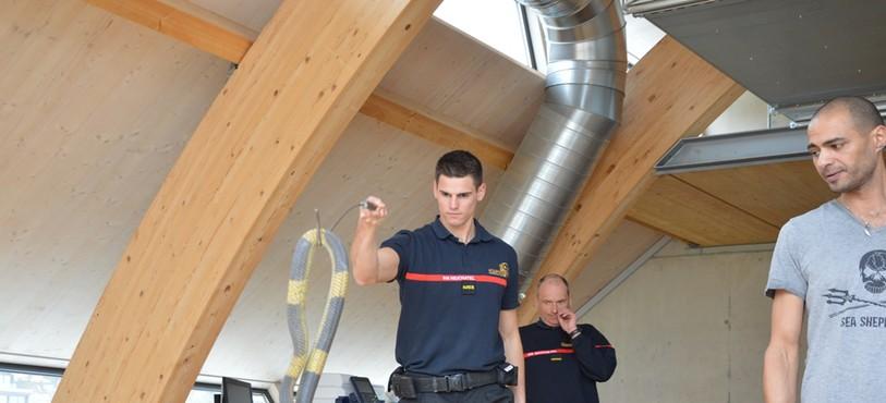 Les pompiers de Neuchâtel ont manipulé plusieurs serpents