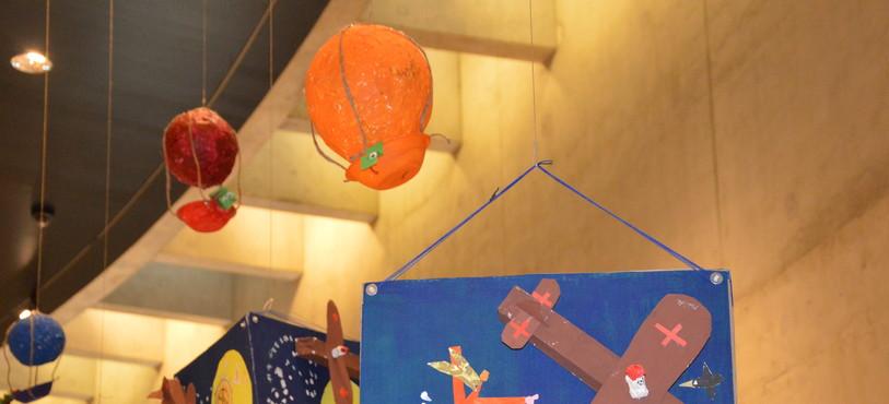 """Oeuvres d'élève inspirées du """"Conte pour ses enfants""""."""
