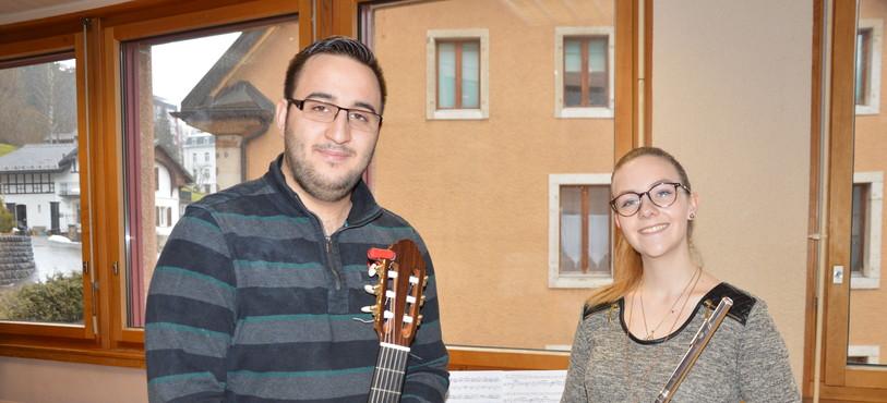 Hekmat Homsi et Anaïs Messerli (de gauche à droite) à l'heure des dernières répétitions.