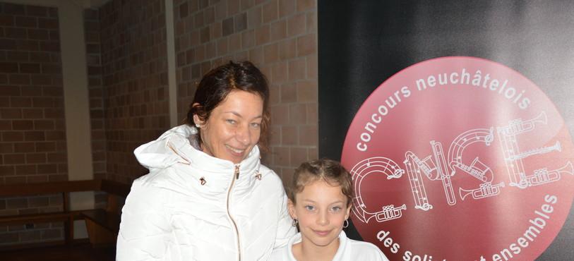 Anaëlle Ruedin et sa maman Virginie.