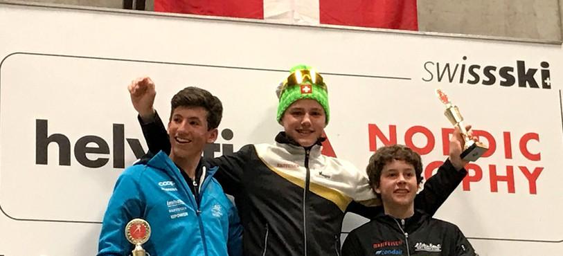 Ilan Pittier sur la plus haute marche du podium