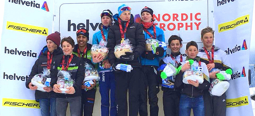 Les trois fondeurs du Giron jurassien ont décroche le bronze en relais (photo : Swiss Ski)