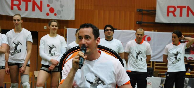Silvan Zindel a tenu un discours après le match