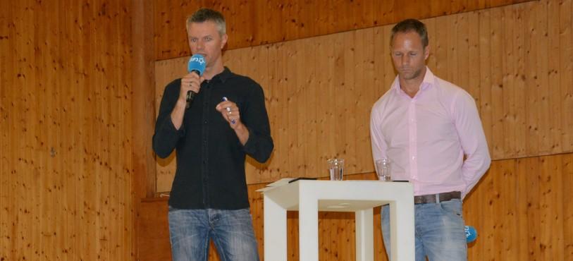 Romain Christe (à gauche) et Benoît Bleyaert