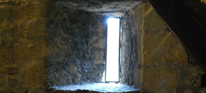 Les murs de la Tour font environ 2m d'épaisseur.