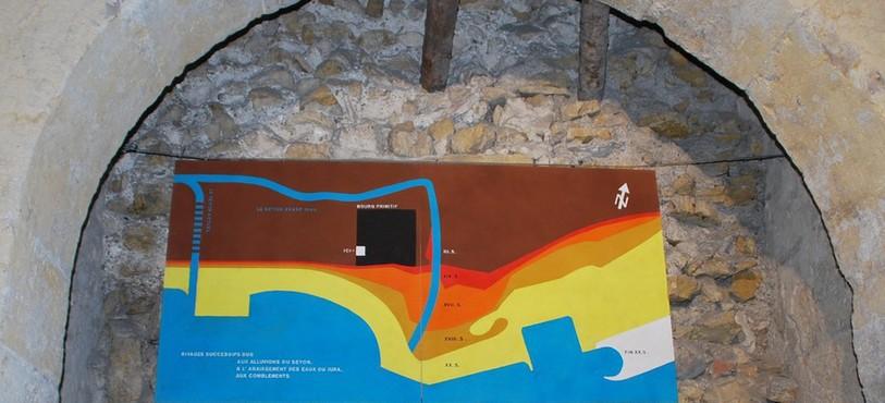 Vestiges de l'ancienne porte d'entrée de Neuchâtel.
