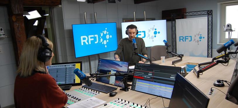 Stéphanie et Alexandre Rossé juste avant le flash d'informations