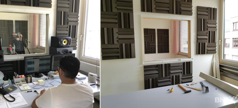 le studio de production avant et après