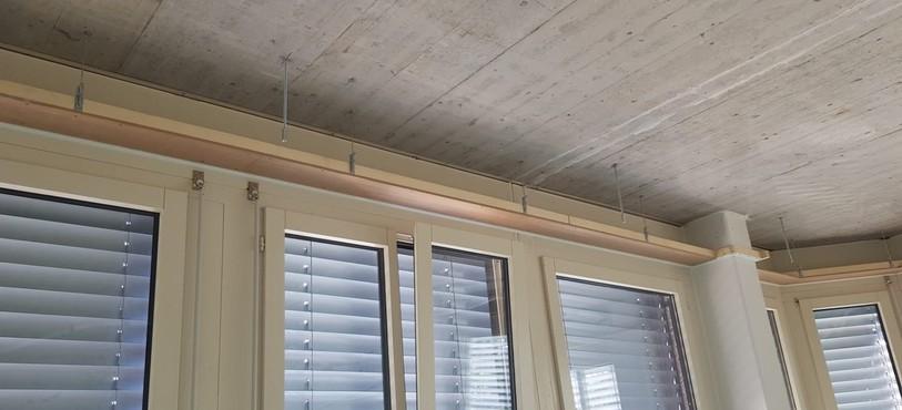on prépare le plafond pour l'installation