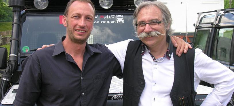 Simon Chédel et Roland Burkhard, les fondateurs de l'association Aide-en-Raid