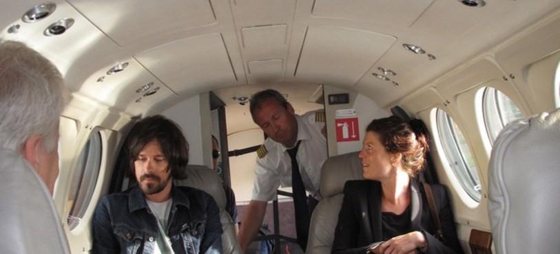 Dans l'avion d'Air Glacier