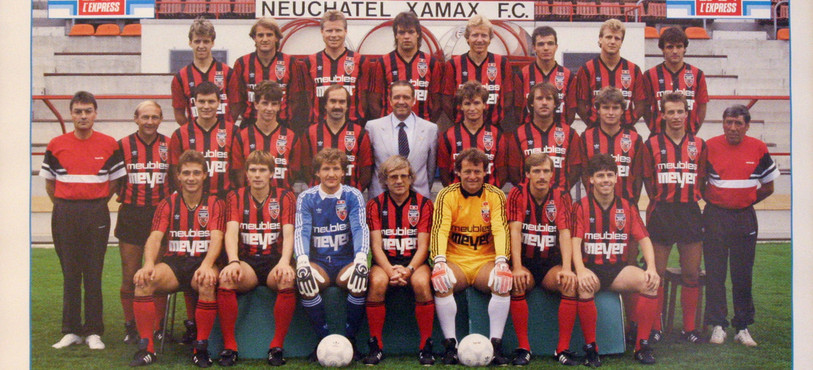 Première équipe de Neuchâtel Xamax. Photo 1987-1988, scanné par Laurent Weber