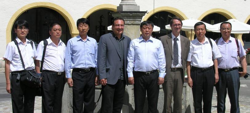 La délégation chinoise a été reçue par des membres du Conseil communal de Val-de-Travers