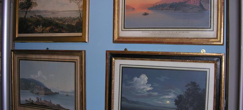 Des illustrations au Musée Rousseau à Môtiers