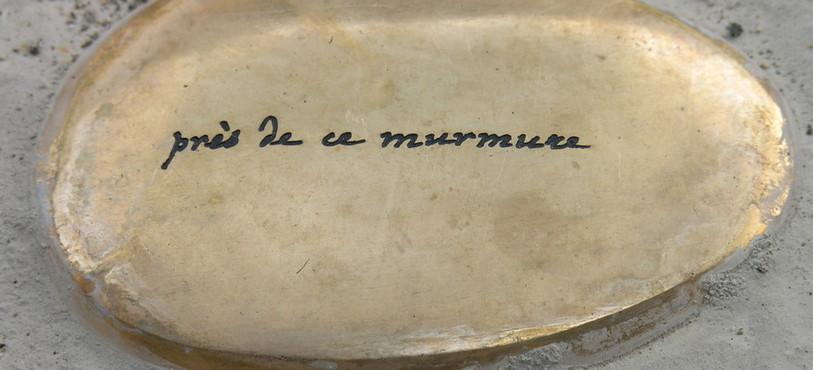 Le premier galet de la Promenade de Rousseau à Môtiers