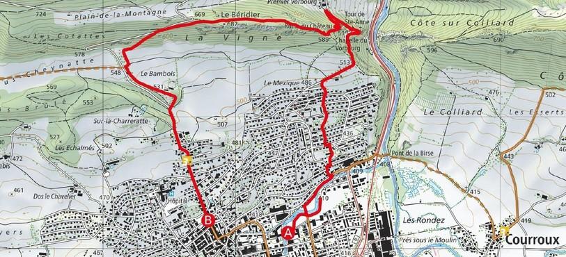 Le petit parcours de 6,5 km imaginé par le SCE.