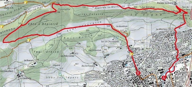 Le grand parcours de 12 km imaginé par le SCE