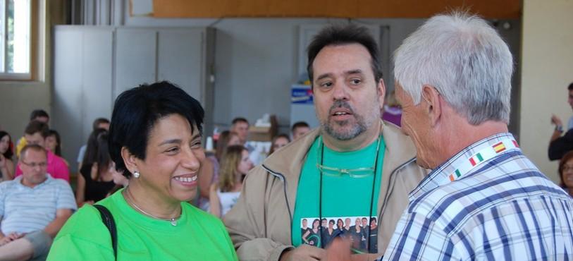 Jean Ruch avec la directice du choeur de Caracas