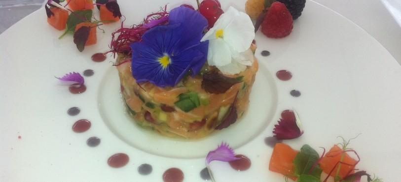 Une des créations culinaires de Giorgio Galati