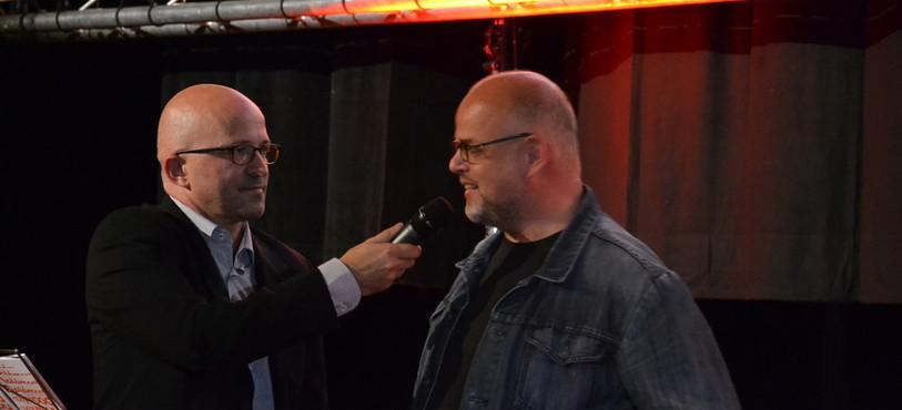 Le producteur Thierry Spycher (à gauche) et le président du jury, le réalisateur Denis Rabaglia