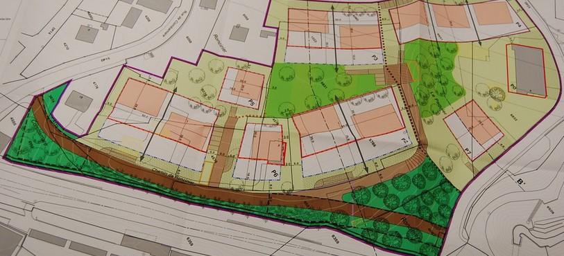 Le plan de quartier du Roncinier